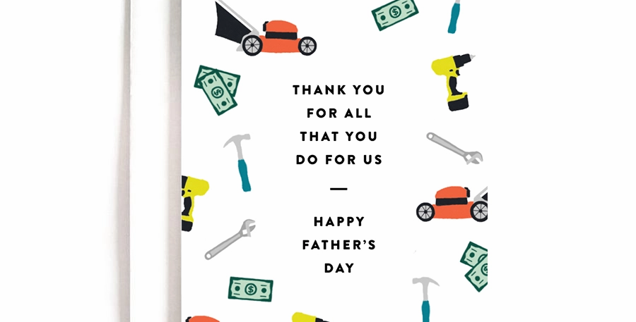 Thanks for all You Do Father's Day Card