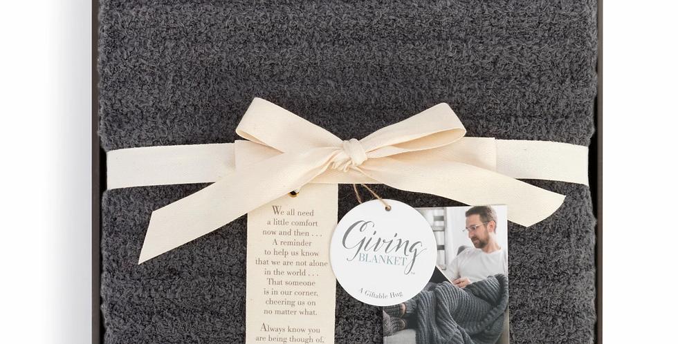 Gray Men's Giving Blanket