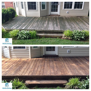 Before and After images of Clear Choice deck restoration in Alexandria