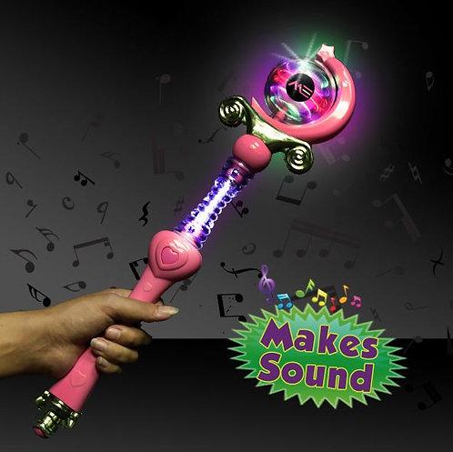 princess wand light up spinning LED toy sound