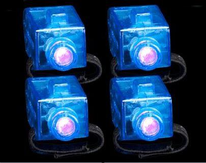 10 Blue Light Up Finger Lights