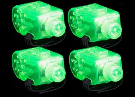 10 Green Light Up Finger Lights