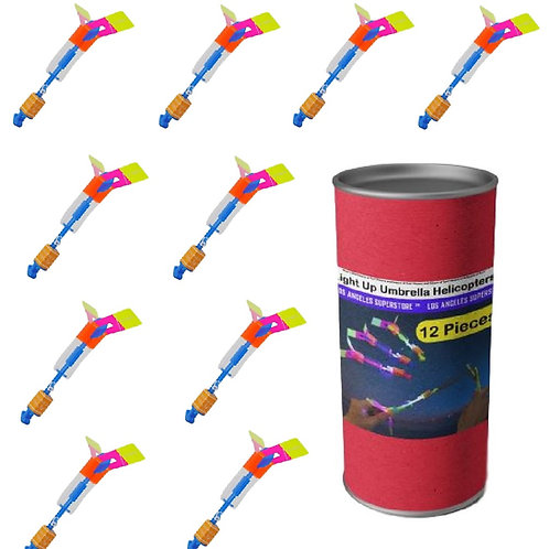 Light Up Umbrella Helicopters LED