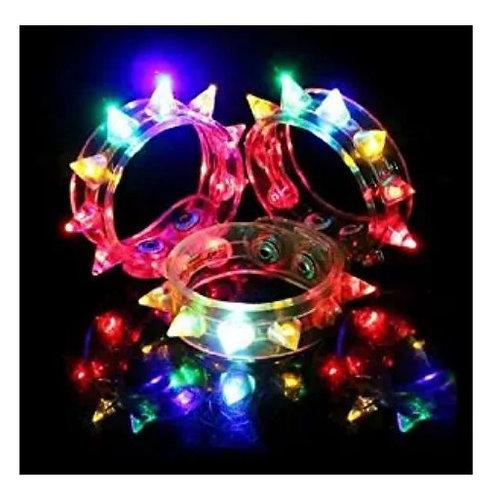 Light up spike bracelets