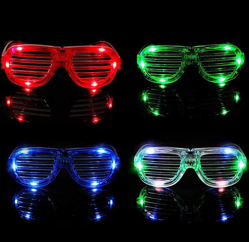 Light Up Glasses - 1 Piece -  Shutter Shades Glow in the Dark LED Party Novelty