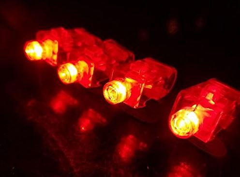 100 Red Light Up Finger Lights