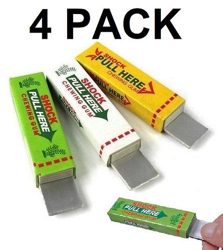 4 Pack of Shocking Prank Gum Joke Toy