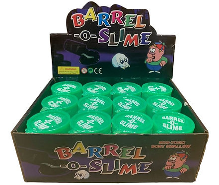 12 Pieces of Green Large Barrel O Slime in Display Box