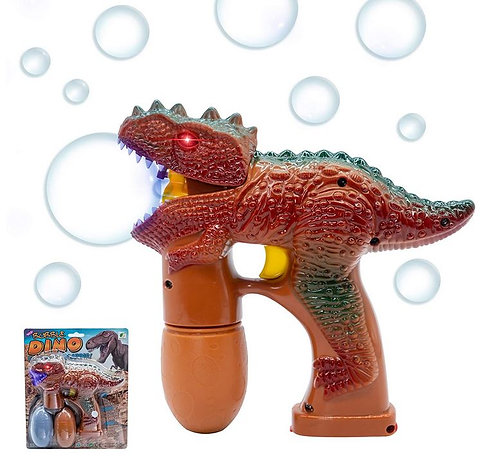 dinosaur bubble gun with led lights and sound