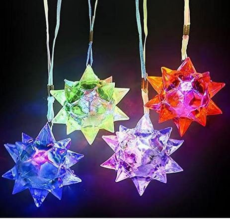 12 Light Up Crystal Star Necklace