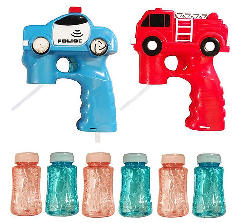 light up bubble gun police car fire truck led toy
