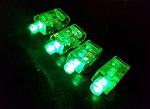 100 Green Light Up Finger Lights