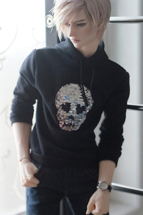 Reversible Skull Sequins Hoodie