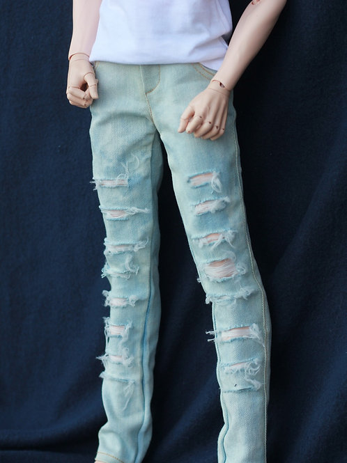 Ripped Denim Pants