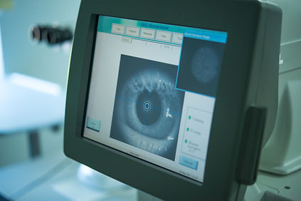 The ophthalmologist conducts the researc