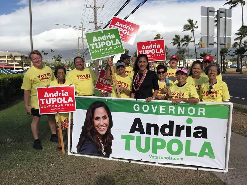 Andria Tupola for Governor