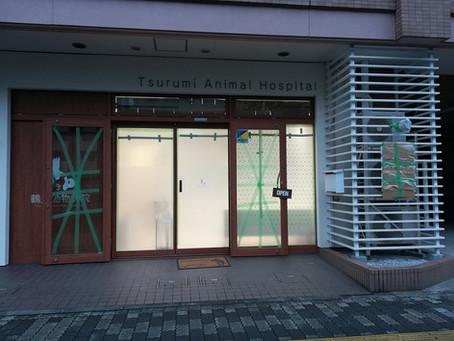 台風のため明日は急患対応のみです。