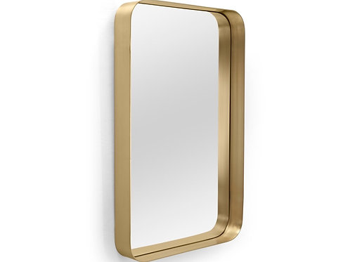 Metal gold frame mirror