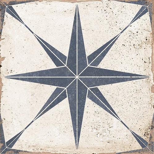 Vintage Star blue tile