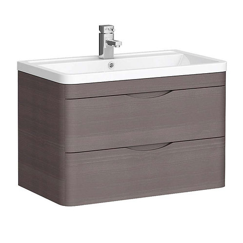 Monza wall hung 2 drawer vanity unit with basin