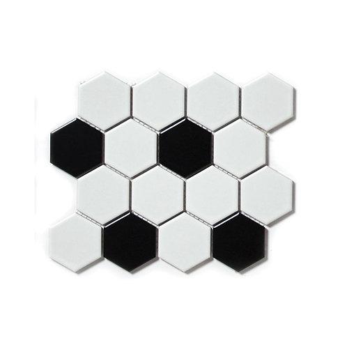 Merola Dot Medium Hexagonal mosaic tile