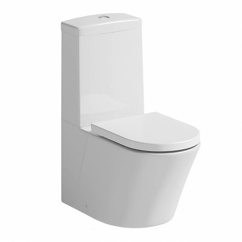 Mode close coupled toilet with soft-close seat