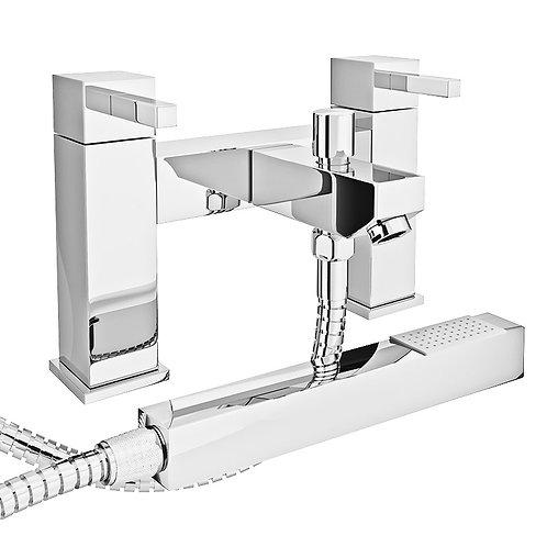 Modern bath filler with shower