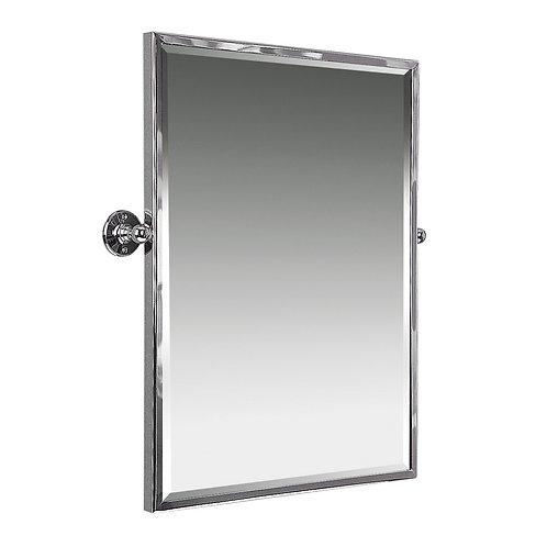 Swivel classic beveled framed mirror