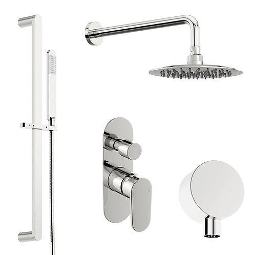 Modern round concealed shower set