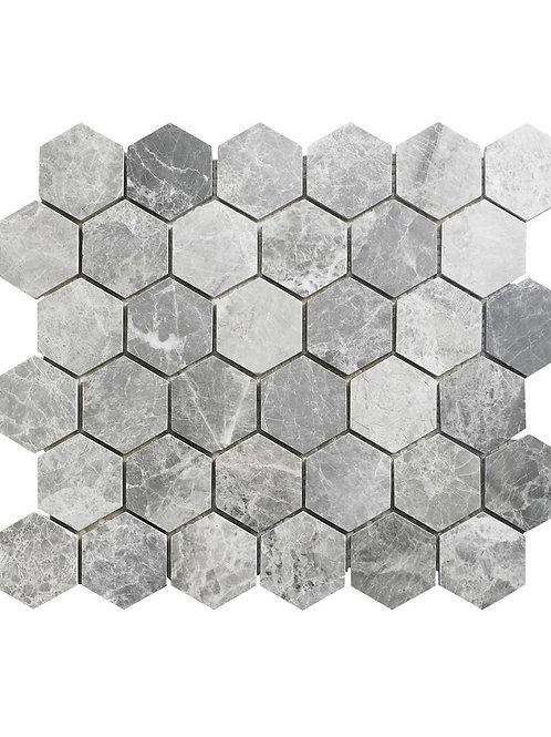 Lantau Grey Mosaic Hexagonal tiles