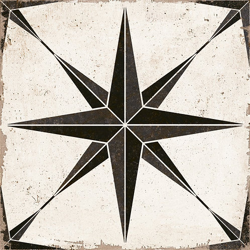 Vintage Star black tile