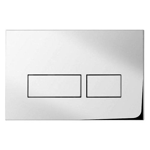 Bauhaus chrome flush plate
