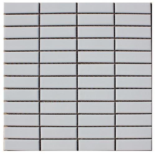 White Piano glossy mosaic tile 23 x 73 mm