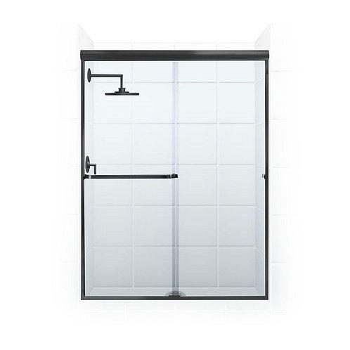 Mode Tate black shower sliding door L1200