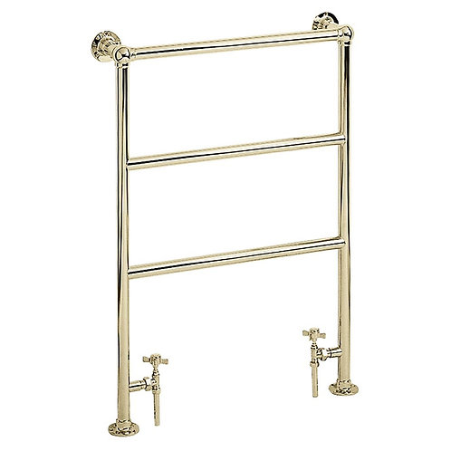 Heritage vintage gold heated towel rail