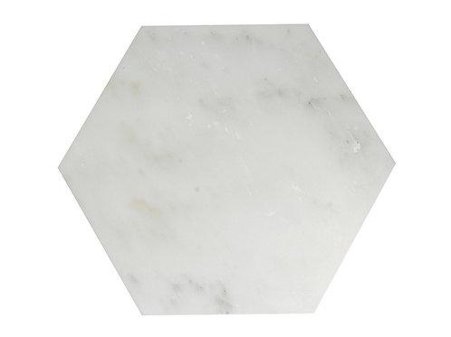 Hexagonal XL polished marble tile
