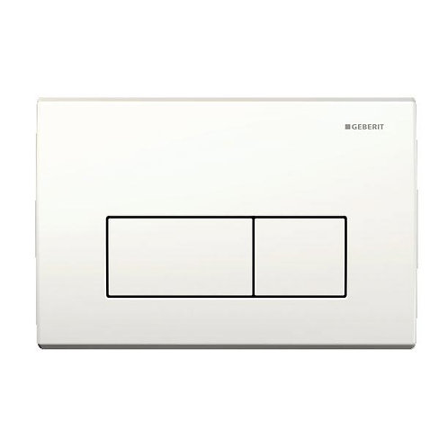 Geberit white flush plate
