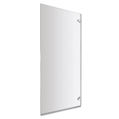 Frameless hinged bath screen