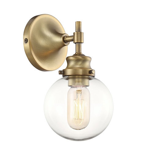 Camden vintage brass wall light
