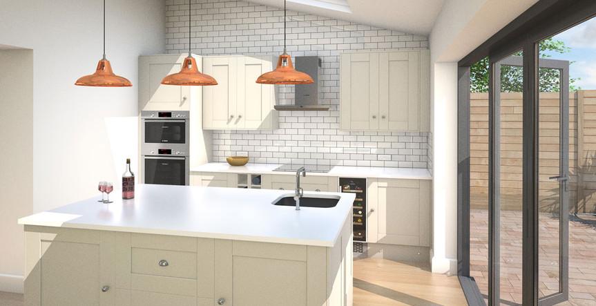 Detailed kitchen    3d render