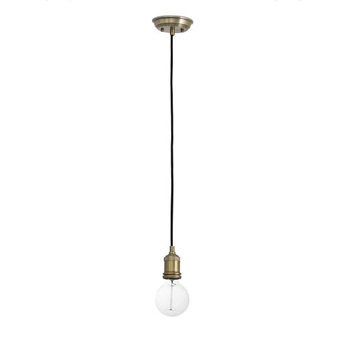 Hackney brass ceiling lamp