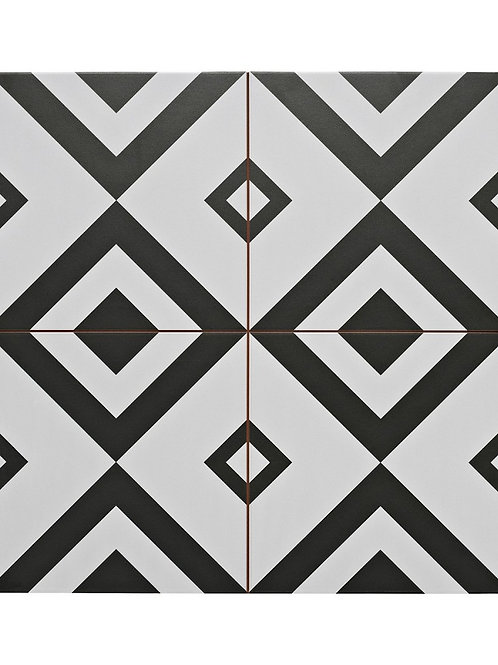 Monochrome pattern tile