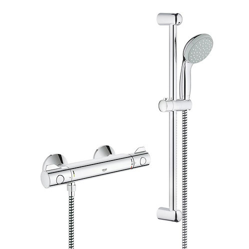 Grohe thermostatic shower mixer and handset