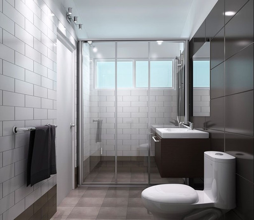 Detailed bathroom    3d render