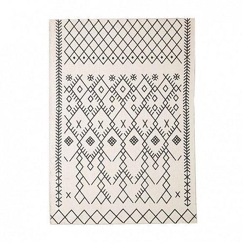 Moroccan printed rug