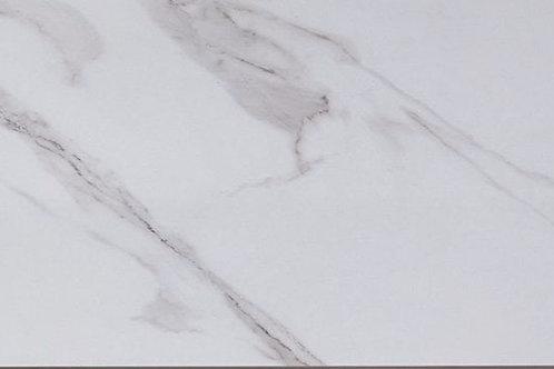 Venezia glossy white marble effect tile