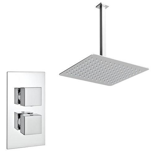 Minimalist square concealed shower set