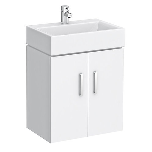 Richmond glossy white basin with vanity unit