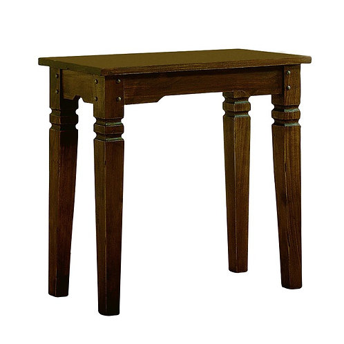 Cole and Sons rustic bathroom console table