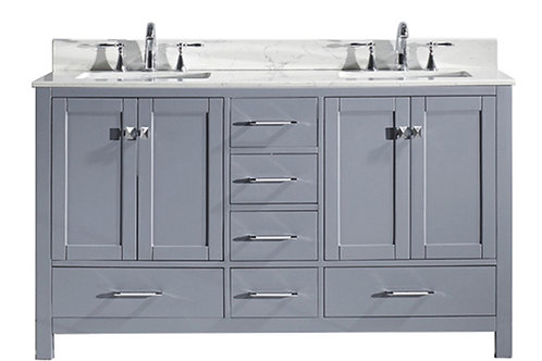 Insta traditional double vanity unit with marble top and two basin